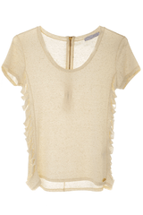 CARLOS MIELE - SHREDDED Off White Top | Women Clothing | Blouses