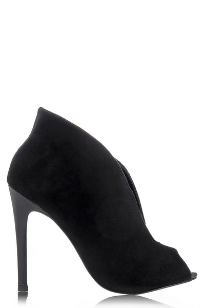 ERINA Black Suede Ankle Boots