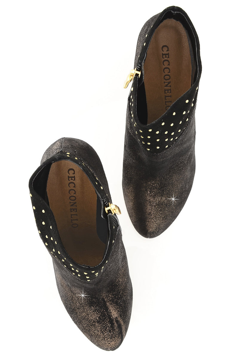 CECCONELLO KALLISTO Bronze Crackled Ankle Boots