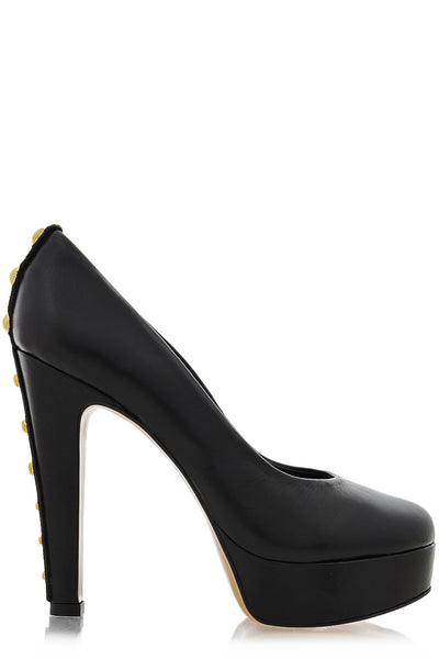 CECCONELLO EVLIN Black Studded Platform Pumps