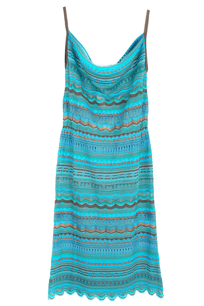 CECILIA PRADO GERALDA Turquoise Knitted Dress