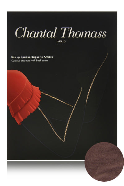 CHANTAL THOMASS BACK SEAM Chocolate Opaque Hold Ups