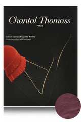 CHANTAL THOMASS BACK SEAM Opaque Prune Tights
