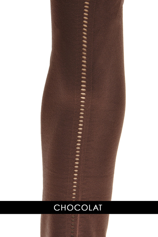 CHANTAL THOMASS BACK SEAM Chocolate Opaque Tights