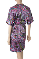 CHARLOTTE SPARRE JANE Silk Kaleidoscope Wrap Dress