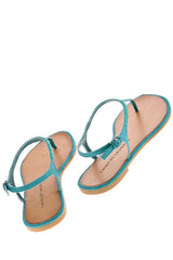 CHINESE LAUNDRY GAME SHOW Teal Crystal T-bar Sandals