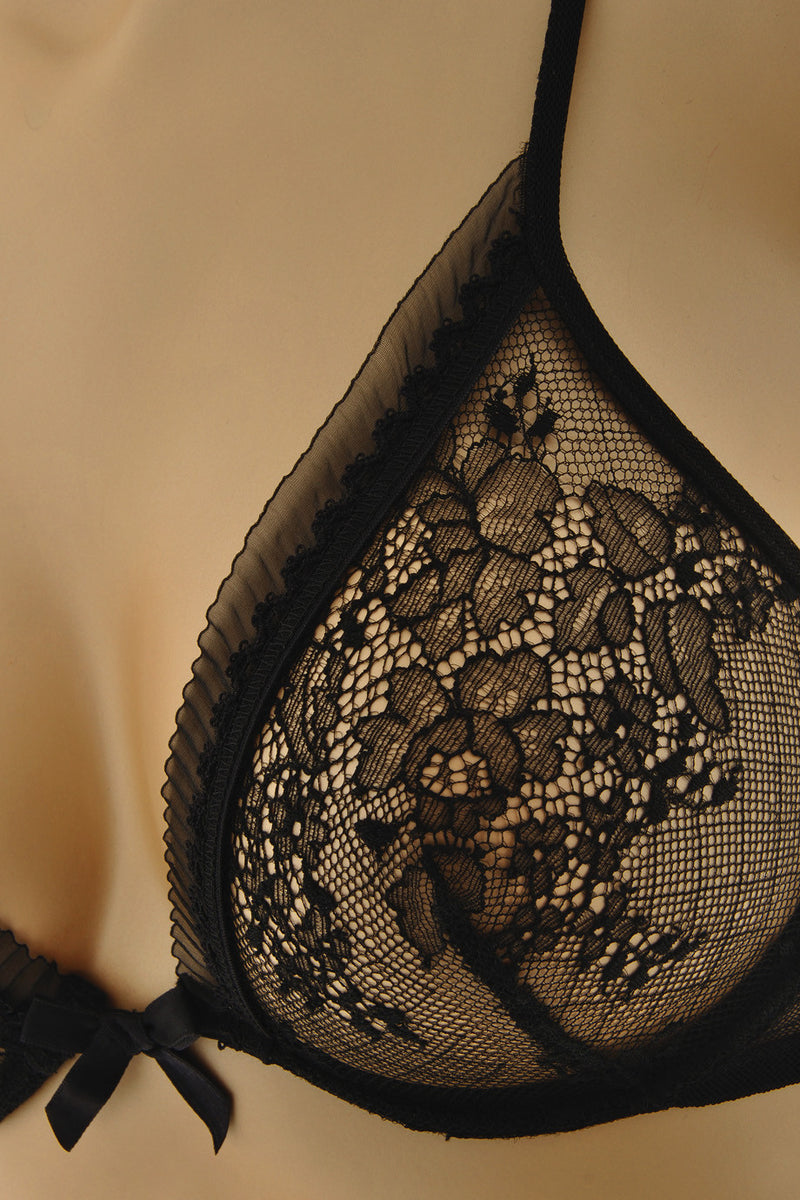 CHRISTIES DELICES Black Lace Underwired Bra