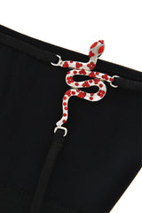 CHRISTIES SNAKE Crystal Black Thong