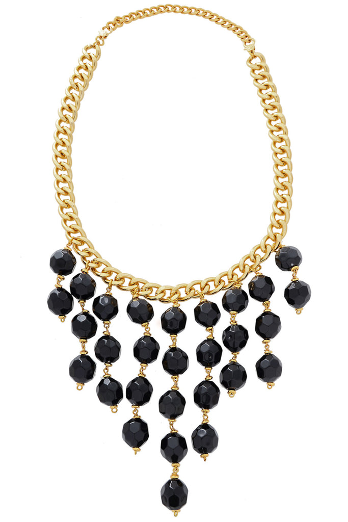 CLAIRE VANS KEMAT Gold Multi Strand Beaded Necklace
