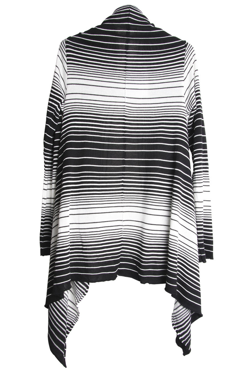 CLUBE BOSSA STRIPPED Black & White Cardigan
