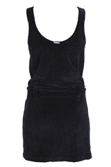 CLUBE BOSSA VELOUR Black Cotton Dress
