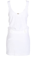 CLUBE BOSSA VELOUR Cream Cotton Dress