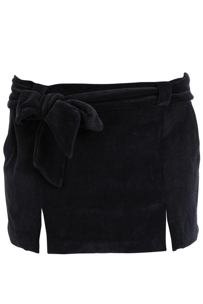 CLUBE BOSSA VELOUR Short Black Skirt