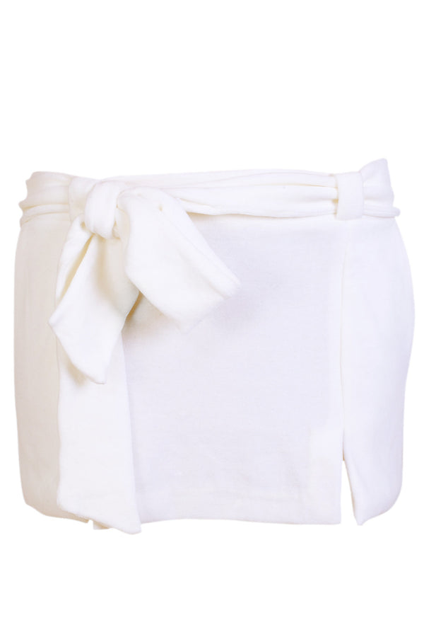 CLUBE BOSSA VELOUR Short Ivory Skirt