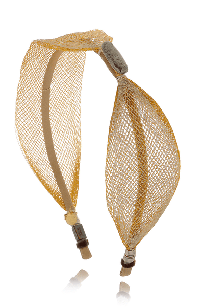 COLETTE MALOUF BANANA LEAF Layered Gold Mesh Headband
