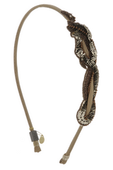 COLETTE MALOUF SERPENT Tan Bronze Headband