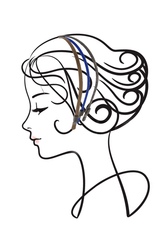 COLETTE MALOUF SILK Lapis Headbands