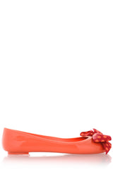 COLORS OF CALIFORNIA CHIC IN THE CITY Coral Dot Ballerinas