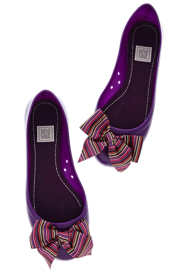 COLORS OF CALIFORNIA CHIC IN THE CITY Striped Ballerinas