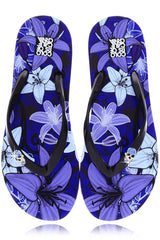 COLORS OF CALIFORNIA FLOWER POWER Indigo Flip Flops