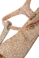 COLORS OF CALIFORNIA GLITTER Bronze T-Bar Sandals