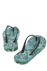 COLORS OF CALIFORNIA FLOWER POWER Turquoise Flip Flops