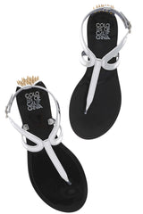 COLORS OF CALIFORNIA ROCK SPIKES Silver Sandals