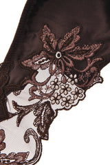 COTTON CLUB FLORAL LACE Brown Briefs