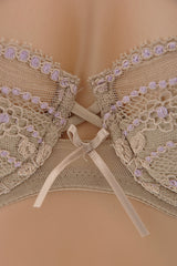 COTTON CLUB LAVENDER Lace Balconette Bra