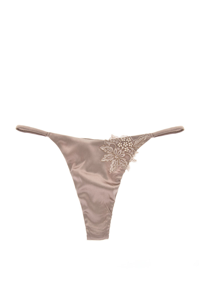 COTTON CLUB LILY Silk Floral Sexy Thong