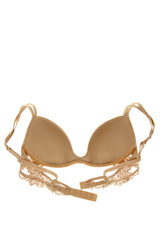 COTTON CLUB NUDE Silk Floral Bra