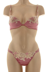 COTTON CLUB PINK Silk Floral Bra
