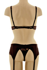 COTTON CLUB ROMANTIC Brown Lace Thong