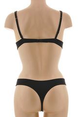 COTTON CLUB SHIRLEY Black Lace Thong