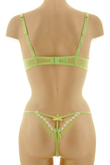 COTTON CLUB SPRING Green Balconette Bra