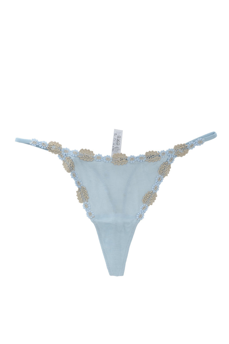 COTTON CLUB VETA Sky Blue Thong