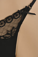 COTTON CLUB VICTORIAN Lace Black Thong