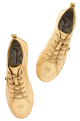 CRAVO & CANELA LOLLY Bronze Gold Leather Sneakers