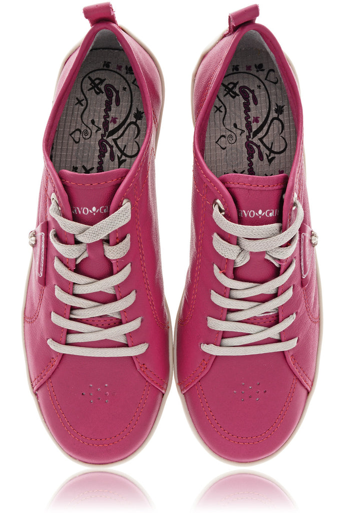 CRAVO & CANELA LOLLY Magenda Leather Sneakers