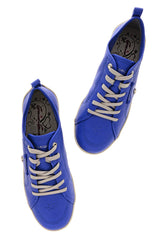 CRAVO & CANELA LOLLY Royal Blue Leather Sneakers