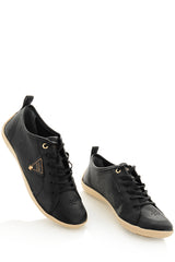 CRAVO & CANELA LOLLY Black Leather Sneakers