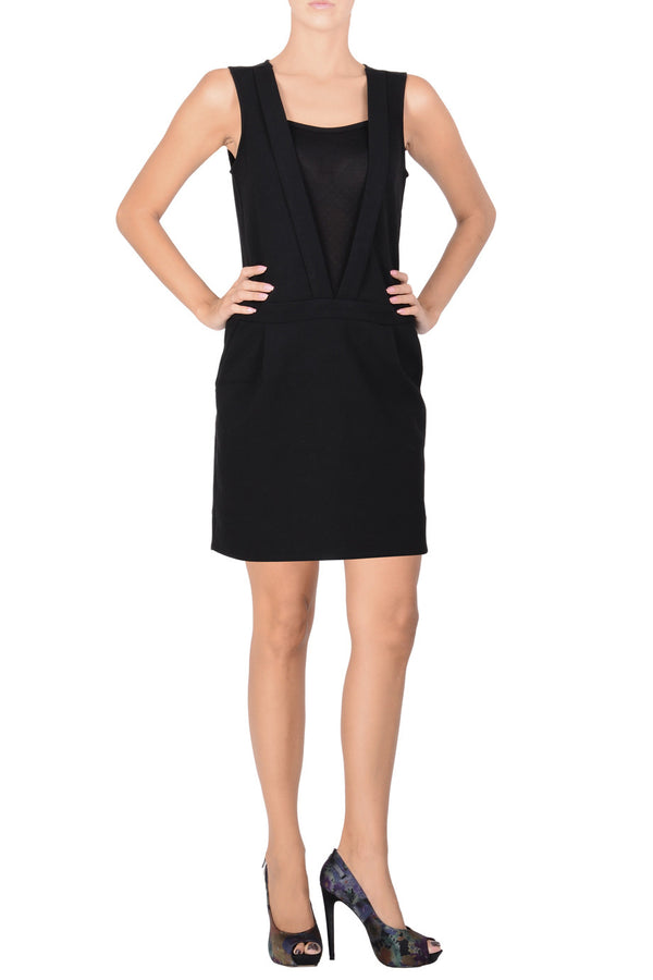 C BLOCK BASILIA Black Cocktail Evening Dress