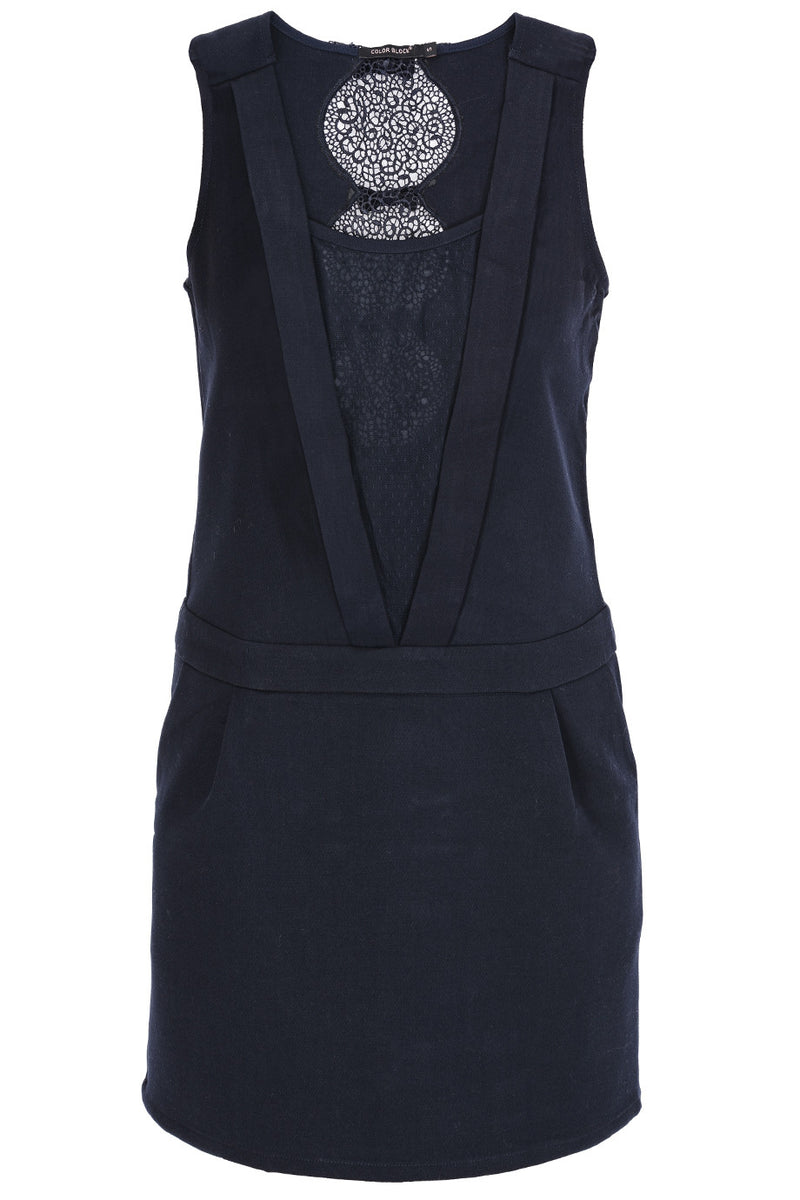 C BLOCK BASILIA Dark Blue Cocktail Evening Dress