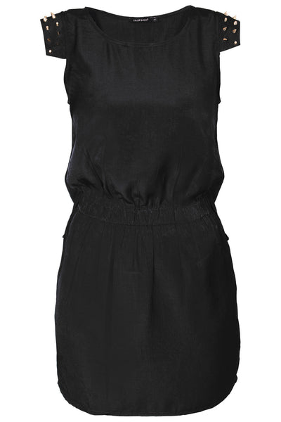 C BLOCK SURI Black Studded Knee Length Dress