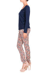 C BLOCK ADORIA Multicolor Floral Print Trousers
