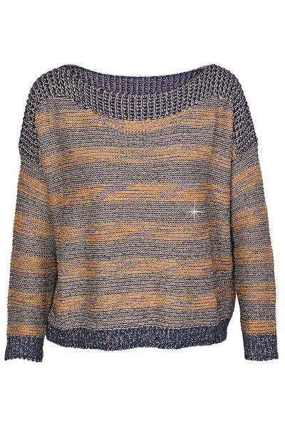 C BLOCK FANTASY Blue Tweed Effect Sweater