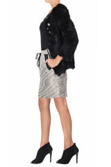 C BLOCK LISA Black Fur Jacket