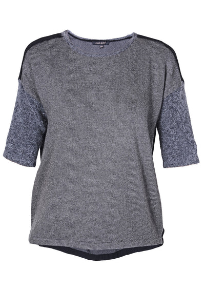 C BLOCK SONNIE Grey Wool Tee