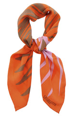 CHARLOTTE SPARRE JULIA Orange Silk Woman Scarf