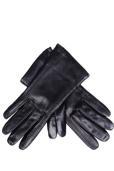 DEMI GERDA Black Leather Seams Women Gloves